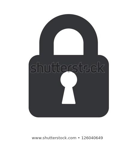 Pad lock icon Stock photo © MikhailMishchenko