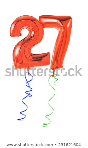 Red balloons with ribbon - Number 27 Stock photo © Zerbor