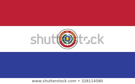 Banderą Paragwaj słup wiatr biały Zdjęcia stock © creisinger
