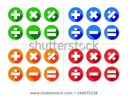 equal sign flat icon Stock photo © jarin13