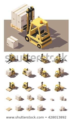 Pallet Truck - Set Of 3d Illustrations Stok fotoğraf © tele52