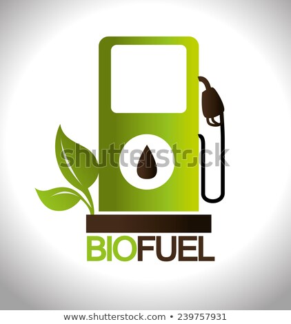gas pump banner illustration design over a white background Stock photo © alexmillos