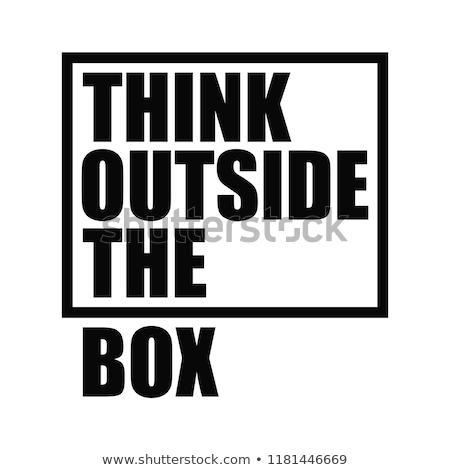 Pozitif kavramlar düşünmek dışında kutu vektör Stok fotoğraf © thanawong