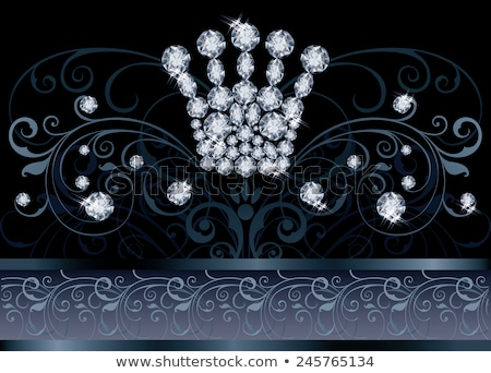 Stock photo: Diamond Queen crown VIP card, vector illustration