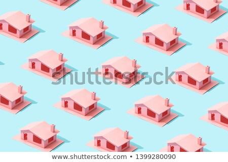 лет домах шаблон стилизованный бесшовный Сток-фото © tracer