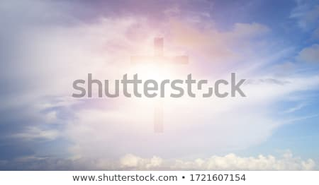 Christian Glowing Cross Stock photo © olgaaltunina