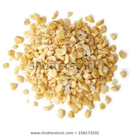 Stockfoto: Gehakt · hazelnoten · geïsoleerd · witte · vruchten