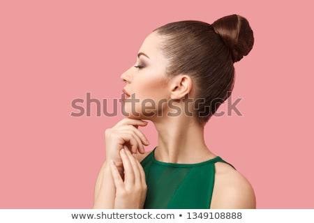 Szépség lövés fiatal modell megérint arc Stock fotó © deandrobot