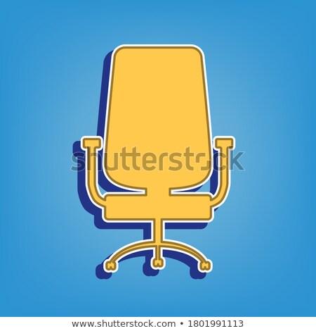 Wheel Chair Golden Vector Icon Button Stock photo © rizwanali3d