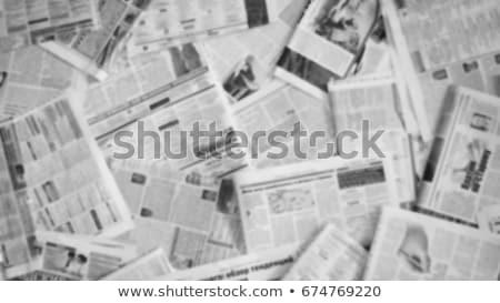újság · boglya · rendkívüli · hírek · összehajtva · egymásra · pakolva · újságok - stock fotó © vinnstock