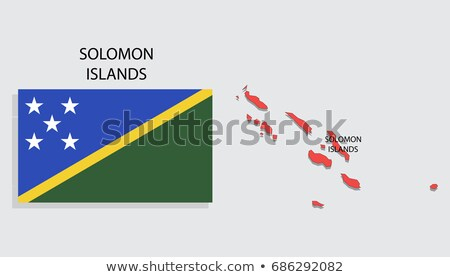 Map on flag button of Solomon Islands Stock photo © Istanbul2009