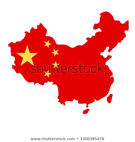 Flag of China inside the shape of the map of China Stock photo © hd_premium_shots