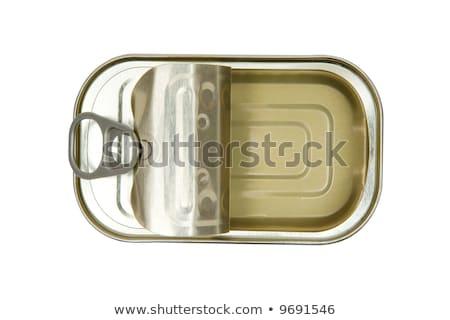 open empty sardine fish tin can stock photo © stevanovicigor