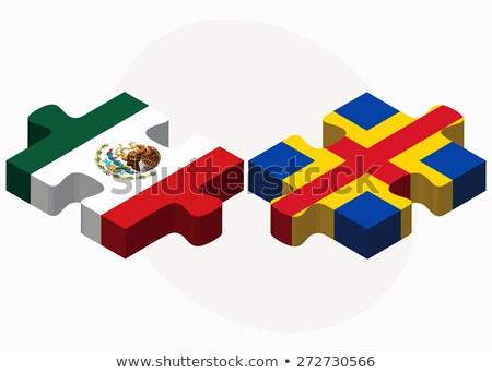 mexikói · puzzle · üzlet · textúra · pénzügy · bank - stock fotó © istanbul2009