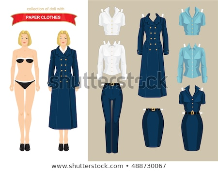Woman in military style dress isolated on white Stock photo © Elnur
