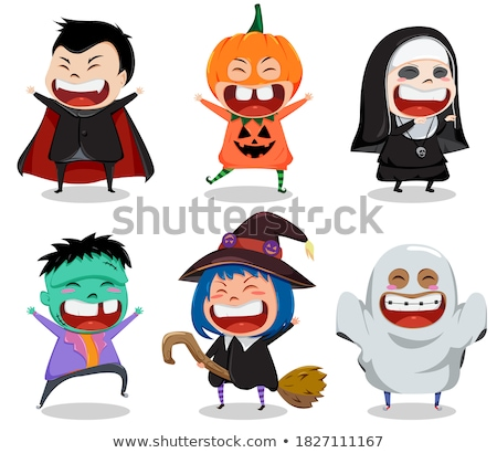 Nun for halloween party isolated on white Stock photo © Elnur