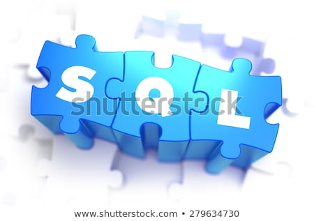 SQL - White Word on Blue Puzzles. Stock photo © tashatuvango