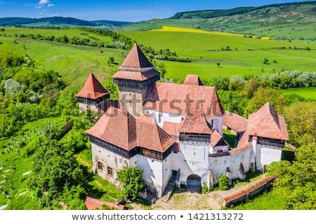Fortified Church at Viscri in Transylvania Stock photo © pixachi