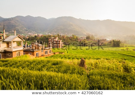 Nepal urban scene traditioneel stad water wereld Stockfoto © smithore