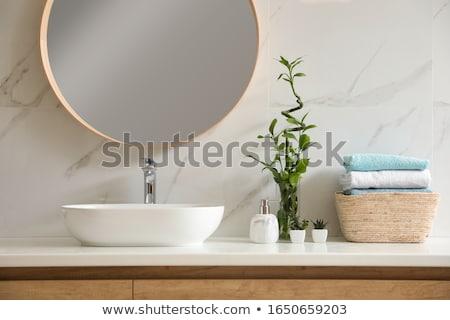 современных · элегантный · раковина · ванную · воды · свет - Сток-фото © elnur