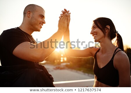 Athlétique couple homme femme fitness exercice Photo stock © vlad_star