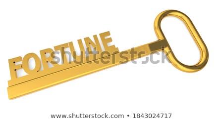 Stock fotó: Kulcsok · szó · arany · címke · fekete · fából · készült
