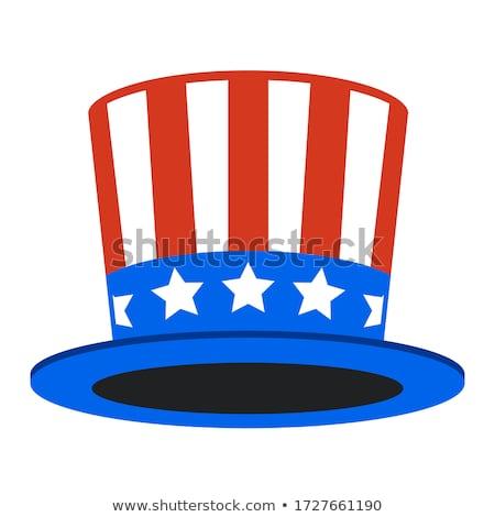 amerikaanse · hoed · symbool · vlag · star · Rood - stockfoto © lightsource
