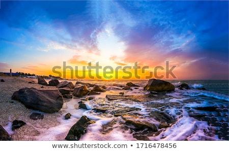 puesta · de · sol · océano · rocas · naturaleza · mar · mundo - foto stock © ssuaphoto