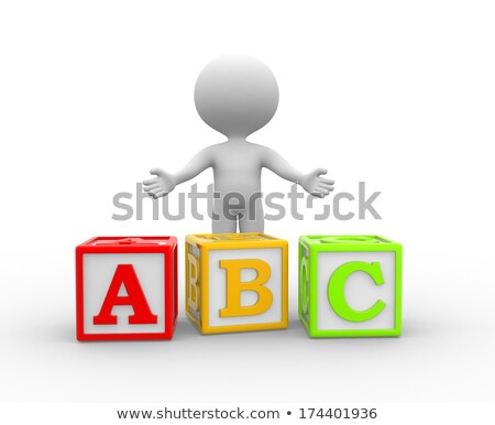3d man with abc alphabats concept Stock photo © nithin_abraham