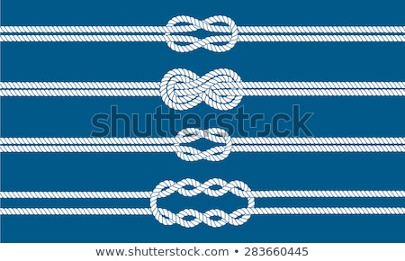 Beautiful knot of a strong rope Stock photo © mcherevan