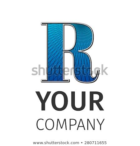 Abstract guilloche Logo, letter-R Stock photo © netkov1