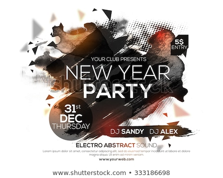 2016 new years party flyer for club music nights stock photo © davidarts