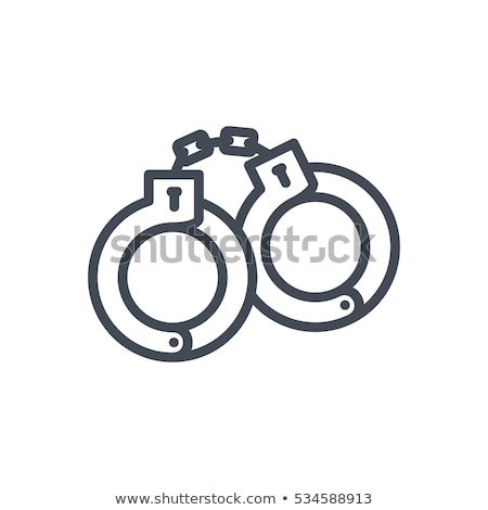 Handcuffs Outline Stock photo © Bigalbaloo