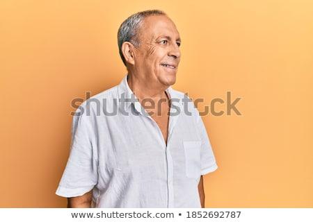 Oldalnézet érett lezser arc másfelé néz férfi Stock fotó © feedough