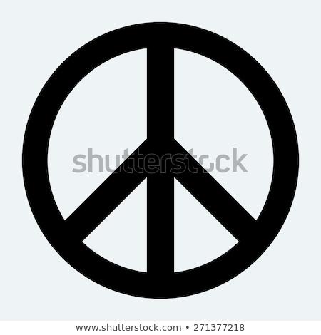 Vrede teken regenboog helling retro brieven Stockfoto © x7vector