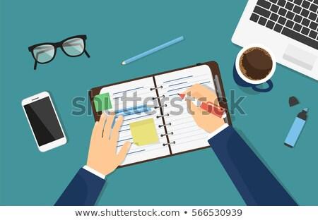 Businessman writing with marking pen Stock photo © ambro