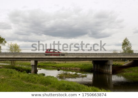 River landscape with a small bridge Stock photo © Sportactive