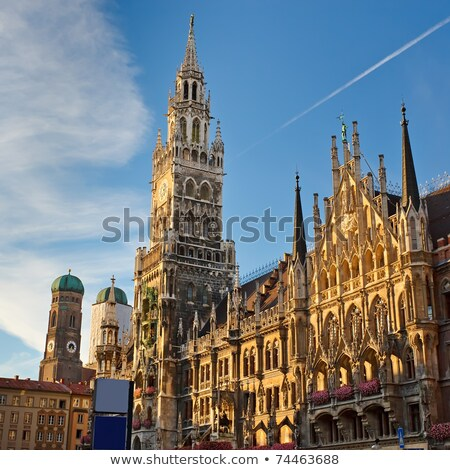 ратуша Мюнхен Германия ночь свет Сток-фото © manfredxy