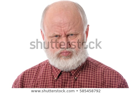Dissatisfied senior man grimacing Stock photo © ozgur