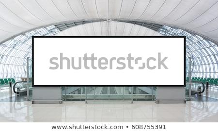Stock photo: Blank advertising billboard