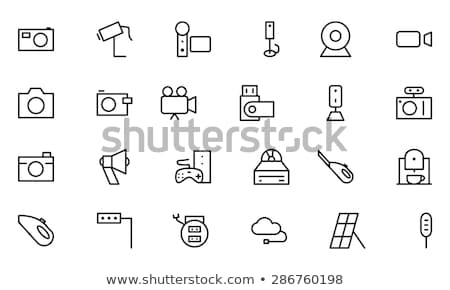 videocamera · line · icona · angoli · web · mobile - foto d'archivio © rastudio