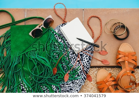 Fashion set of woman's clothes and accessories - Hippie style fashion set  Stock photo © gigi_linquiet