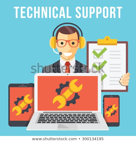 tablet pc repair service icon flat design stock photo © wad