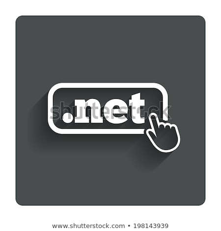Domain dot net sign icon Illustration Stock photo © kiddaikiddee