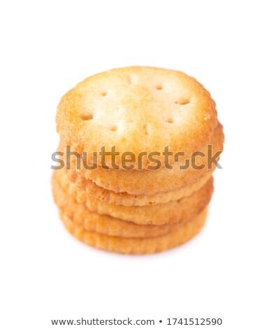 Stack of crackers (breakfast) isolated Stock photo © michaklootwijk