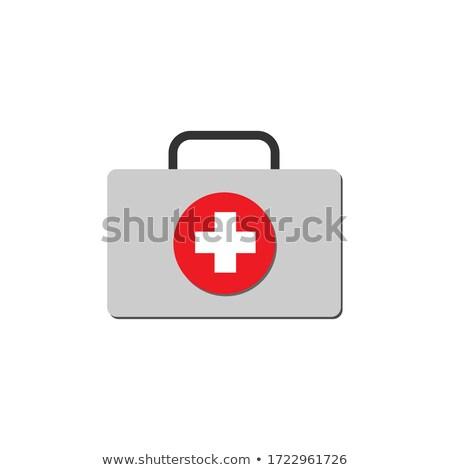 vettore · medici · organi · cerchio · icone · bianco - foto d'archivio © bluering