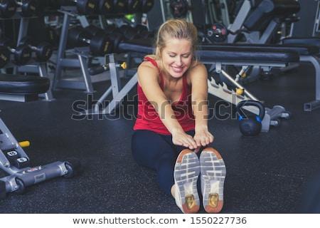 Muscular sexy woman Stock photo © alphaspirit