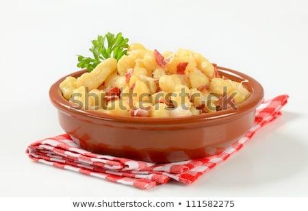 Küçük patates domuz pastırması lahana beyaz akşam yemeği Stok fotoğraf © Digifoodstock