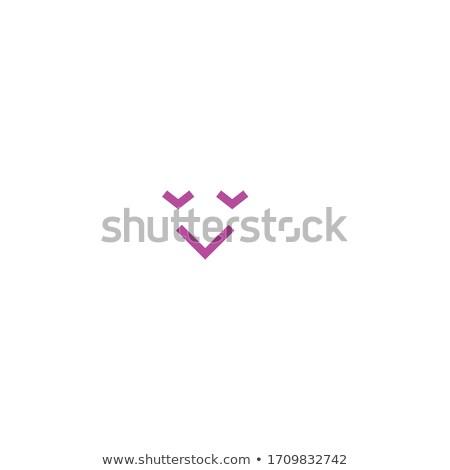 Geïsoleerd witte emoticon gezicht liefde gelukkig Stockfoto © ikopylov