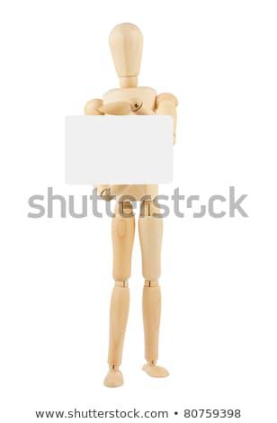 Ahşap kâğıt el yapımı yalıtılmış beyaz Stok fotoğraf © Taigi